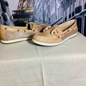 Sperry Top-Sider Gold Glitter Boat Shoe